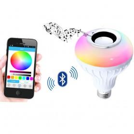 Ασύρματη LED RGB λάμπα E27 με Bluetooth για αναπαραγωγή μουσικής με τηλεχειριστήριο